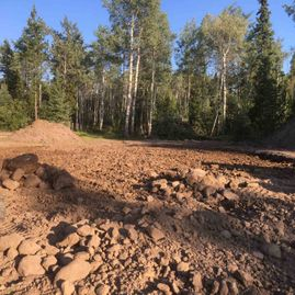 Riding Arena Top Soil Removed and Rock Clearing
